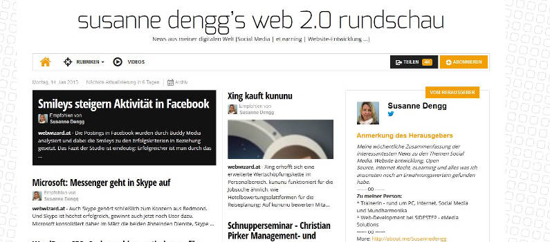Web 2.0 Rundschau